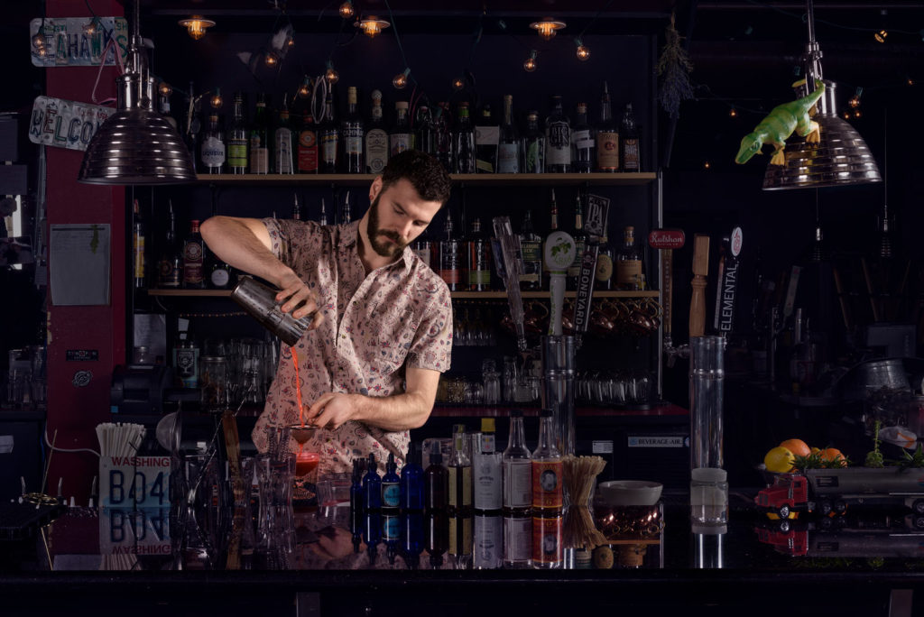 Portrait of bartender.
